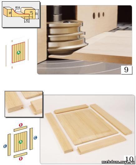 конструкция мебельных фасадов из дерева