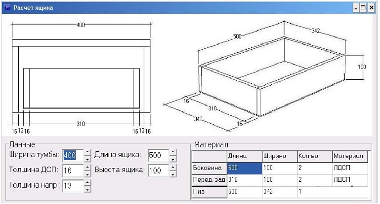 Как сделать и просчитать ящик