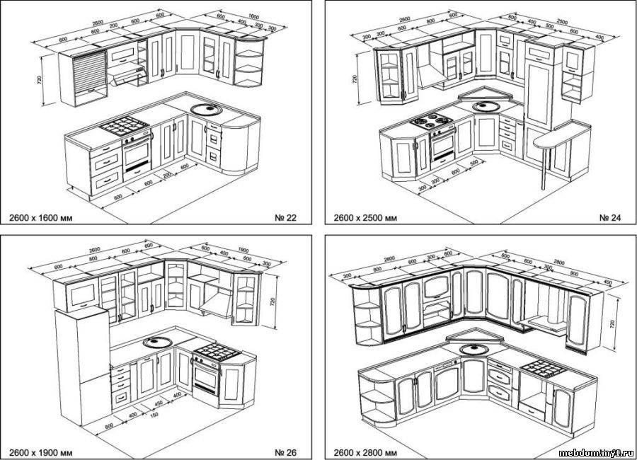 Описание: b>чертежи кухни с