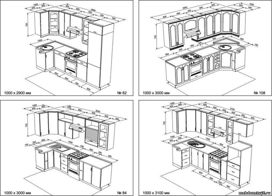 Угловая кухня своими руками из дерева чертежи 89