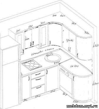 Нарисовать кухню